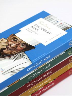 LOT DE 5 TABLETTES DE CHOCOLAT BOCUSE